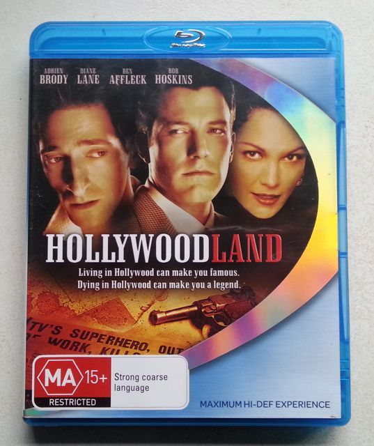 'HOLLYWOODLAND' starring Adrien Brody, Diane Lane, Ben Affleck and Bob Hoskins [REGION B] $A15 + postage (free local) www.brookysbazaar.com/video.html#other #bluray #shopping #Secondhand @PayPal