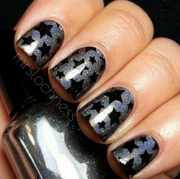 50+ Cool Star Nail Art Designs With Lots of Tutorials and Ideas - Best 25+ Star Nail Designs Ideas Only On Pinterest Star Nails