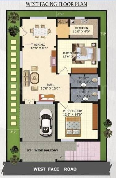 Tiny Home Designs: 27*45 House Plan India