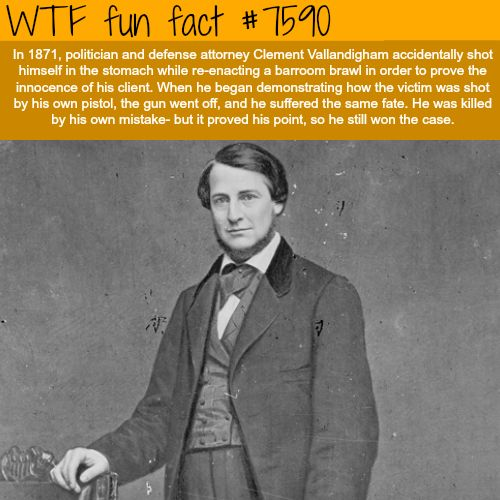 Defense attorney shot himself in court - WTF fun facts