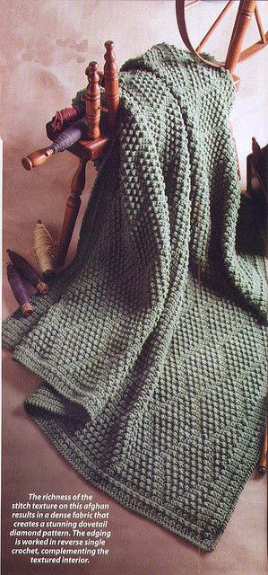 love the texture of this crocheted afghan