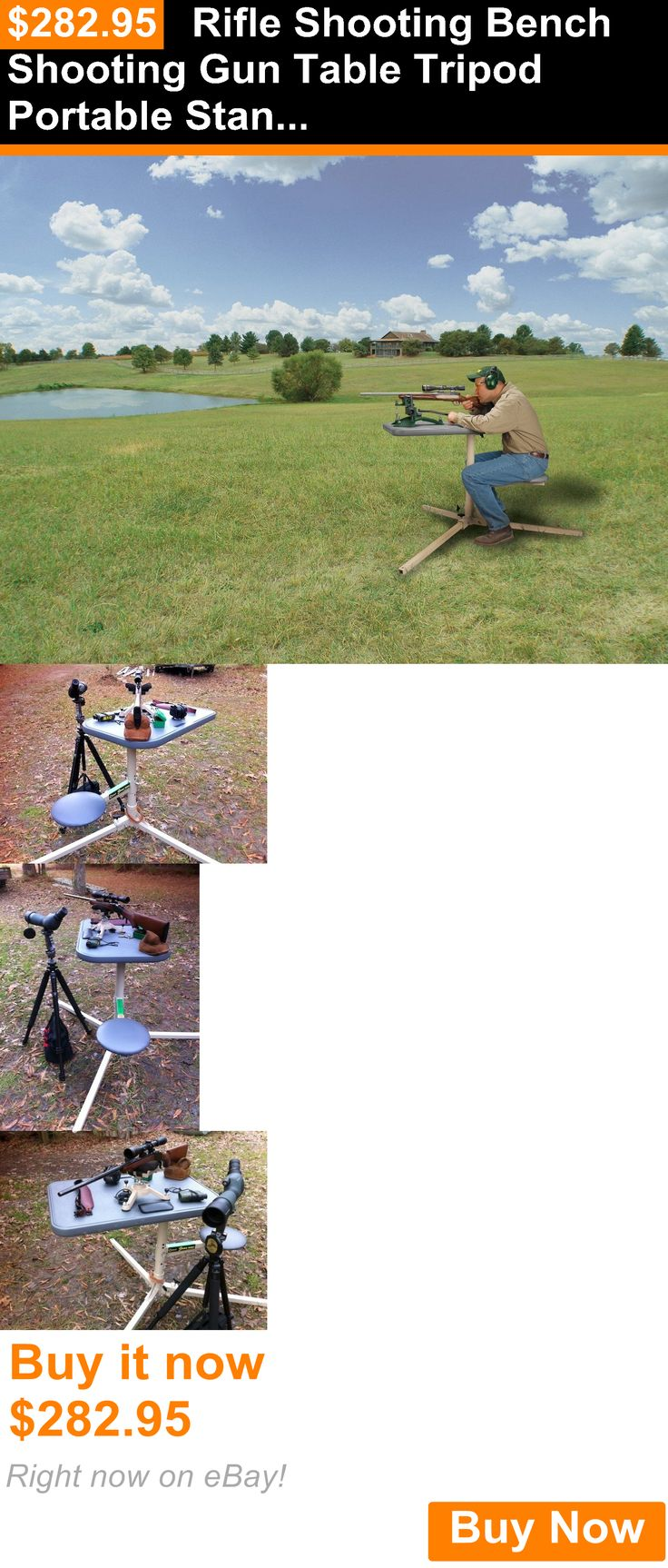 Benches and Rests 177887: Rifle Shooting Bench Shooting Gun Table Tripod Portable Stand Hunting Range Rest BUY IT NOW ONLY: $282.95