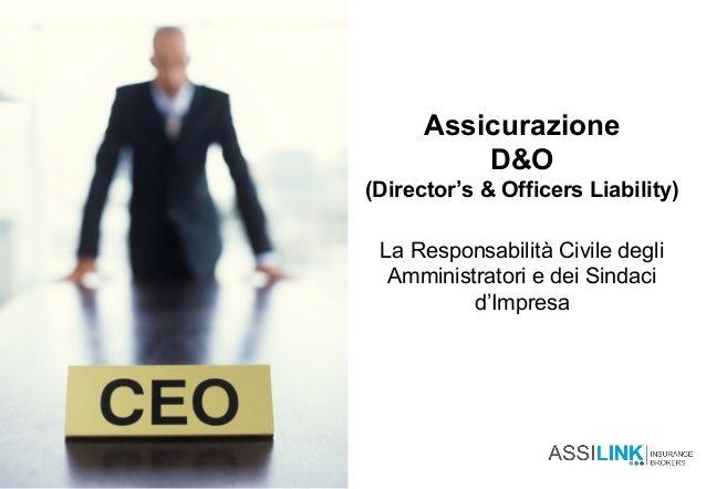 Assicurazione D&O per Amministratori e Dirigenti di società