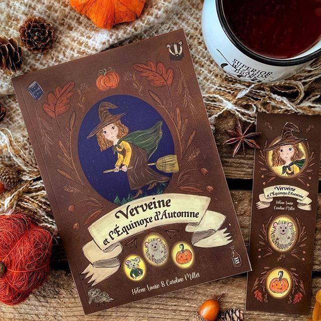 Verveine Et L Equinoxe D Automne Notre Livre Sort Le 14 Octobre Book Autumnbook Childrenbook Witchbook Fallbook Octobreautomne Verveine Book Cover