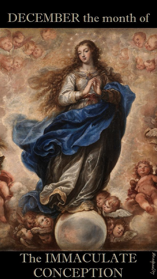 DECEMBER is the Month of the Immaculate Conception  During Advent, as we prepare for the birth of Christ at Christmas, we also celebrate one of the great feasts of the Catholic Church. The Solemnity of the Immaculate Conception (8 December) is not only a celebration of the Blessed Virgin Mary but .....#mypica cath