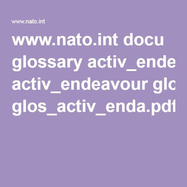 www.nato.int docu glossary activ_endeavour glos_activ_enda.pdf