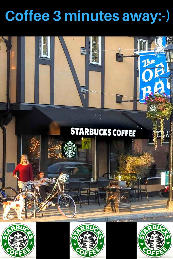 Starbucks Coffee an easy stroll from 1572 Monterey Home For Sale in Oak Bay ~ ask Ivan Delano PREC sutton group west coast realty for all the extras 250-744-8506