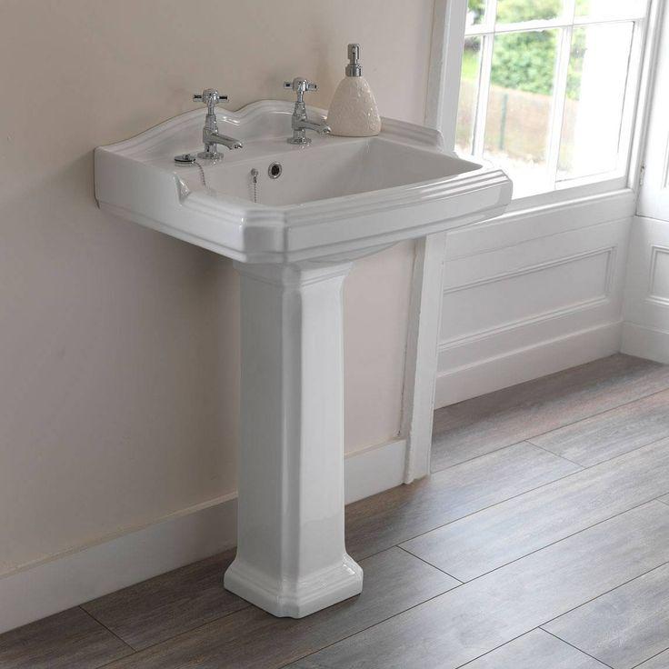 Winchester Basin Pedestal 2th Victoria Plumb Bathrooms
