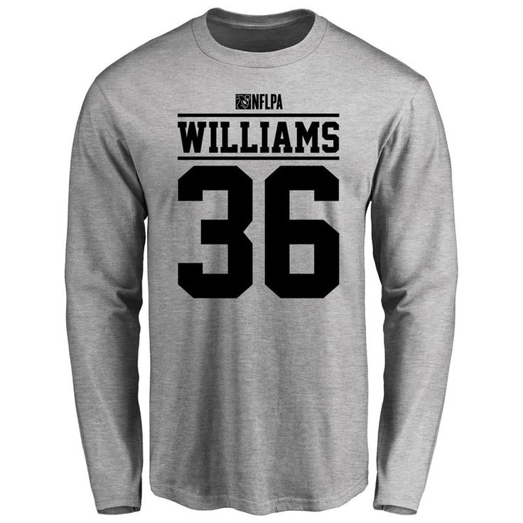 Kenneth Williams Player Issued Long Sleeve T-Shirt - Ash   Ash and ...
