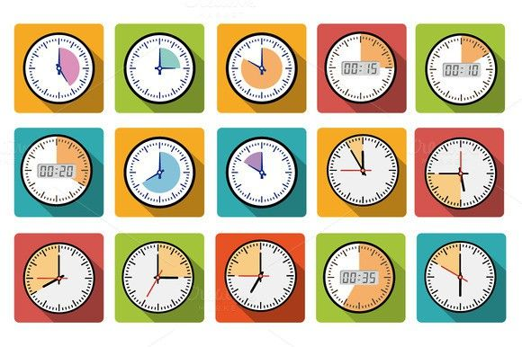 Timer clocks icons. Business Infographic