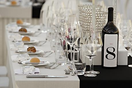 Gigi & George's wedding - wine label table numbers - Canvas Stationery Boutique