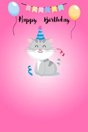 happy birthday letter for sister with cute kitty on hot pink background fully customized products free customization layouts huge range of layouts