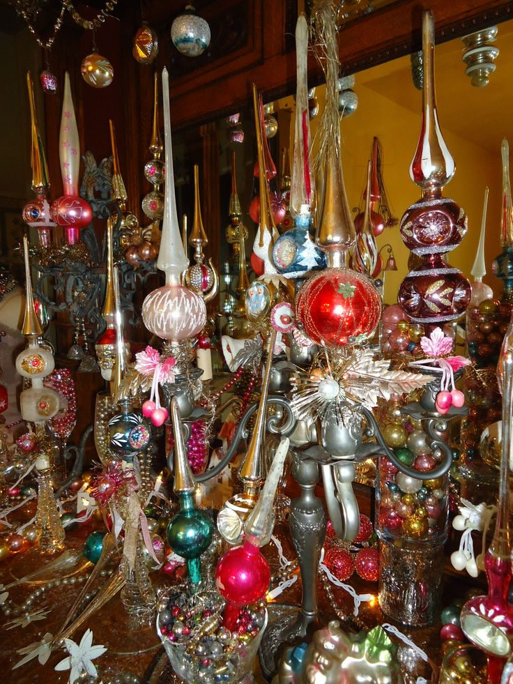 Lovely Old Mercury Glass Tree Topper Display 2014