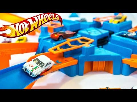 Hot Wheels Criss Cross Crash Track | Toy Review and Unboxing | 핫휠 미니자동차 트랙 - YouTube