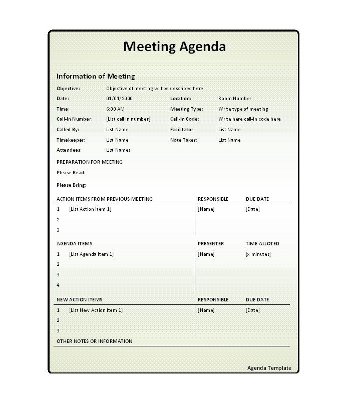 The  Best Meeting Agenda Template Ideas On   Team