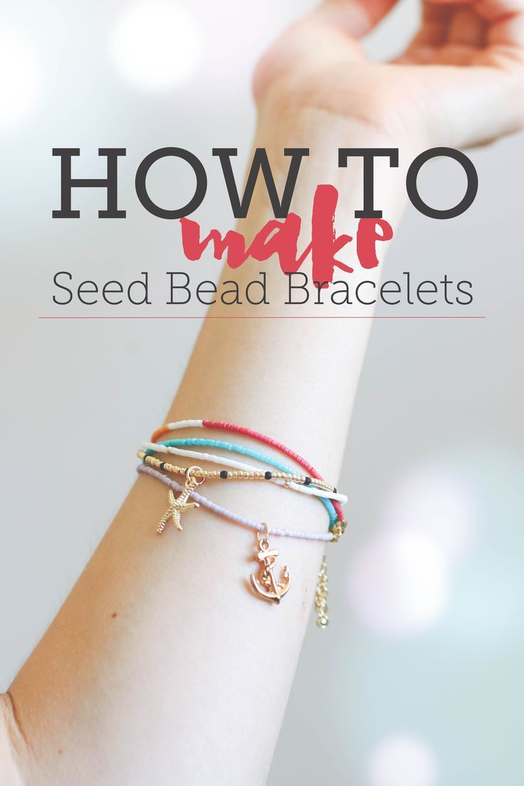 Seed bead bracelets are definitely making a comeback, which we LOVE, because they are seriously one of the simplest pieces of jewelry to make. Follow this photo tutorial and make a whole stack to layer (or gift!) in less than an hour.