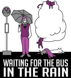 Waiting for the bus in the rain #nightvale<<< you do not know how many times I have sung this.  While I was waiting, for a bus, in the rain.