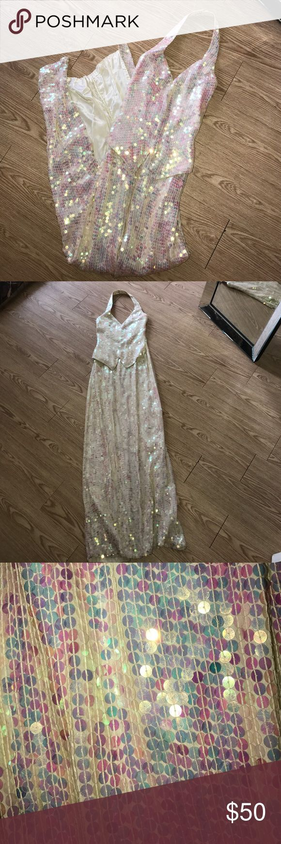 Vintage Sequin Pageant Gown Vintage! Tuxedo front & slit in back. Fun for dressing up or a costume! All sequin still attached & in great condition! Sean Collection Dresses