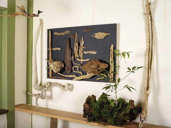 流木で描く山水画 2015年 流木アートー1-3 ★ 流木で山水画風にアレンジしました。 ★  #流木 #流木アート #山水画 #屋久島アート #流木の花器 #インテリア #Driftwood art #Flowervase