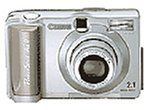 Canon PowerShot A20 2MP Digital Camera with 3x Optical Zoom. 2.1 megapixel sensor creates 1600 x 1200 images for prints at sizes up to 8 x 10. 3x optical plus 2.5x digital zoom lens with autofocus. Included 8 MB CompactFlash memory card holds 12 images at default resolution. Connects with Macs and PCs via USB port. Uses 4 AA batteries, included.