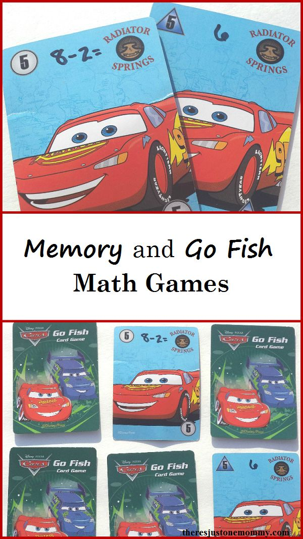 Math Game: make your own math memory and math go fish games