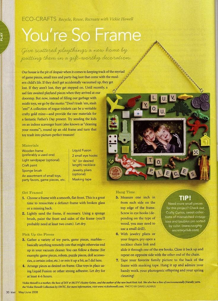 Trinket Frame for Kiwi Magazine Summer '08