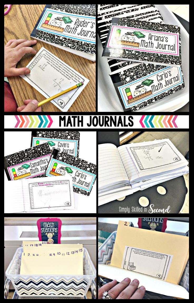 Math for grades 1-5 | math journals, guided math journals, math journaling  Simply Skilled in Second