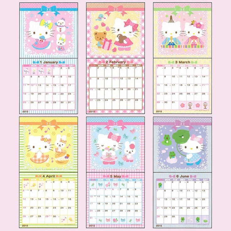 Hello Kitty Calendar 2015 Planen Notieren Pinterest Sanrio