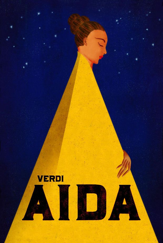 Aida - Verdi - poster by Brian Stauffer for Vancouver Opera