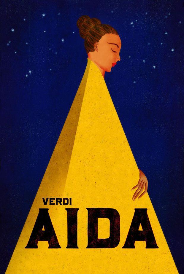 Aida - Verdi - poster by Brian Stauffer for Vancouver Opera
