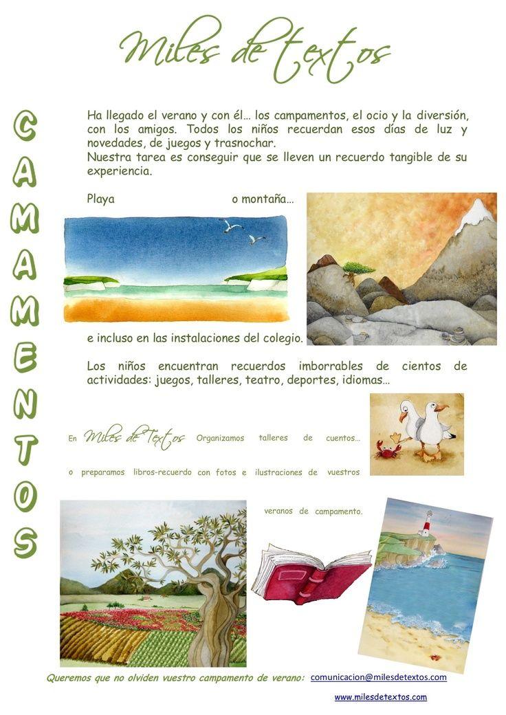 Tu #campamento de verano... en un #cuento!!!!! Campamentos de Verano