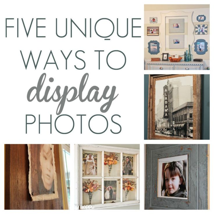 Are you in need of inpiration for displaying photos in your home or office? If so, check out these five unique ways to display photos in your home.