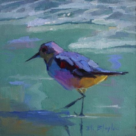 Beach Bird, painting by artist Elizabeth Blaylock