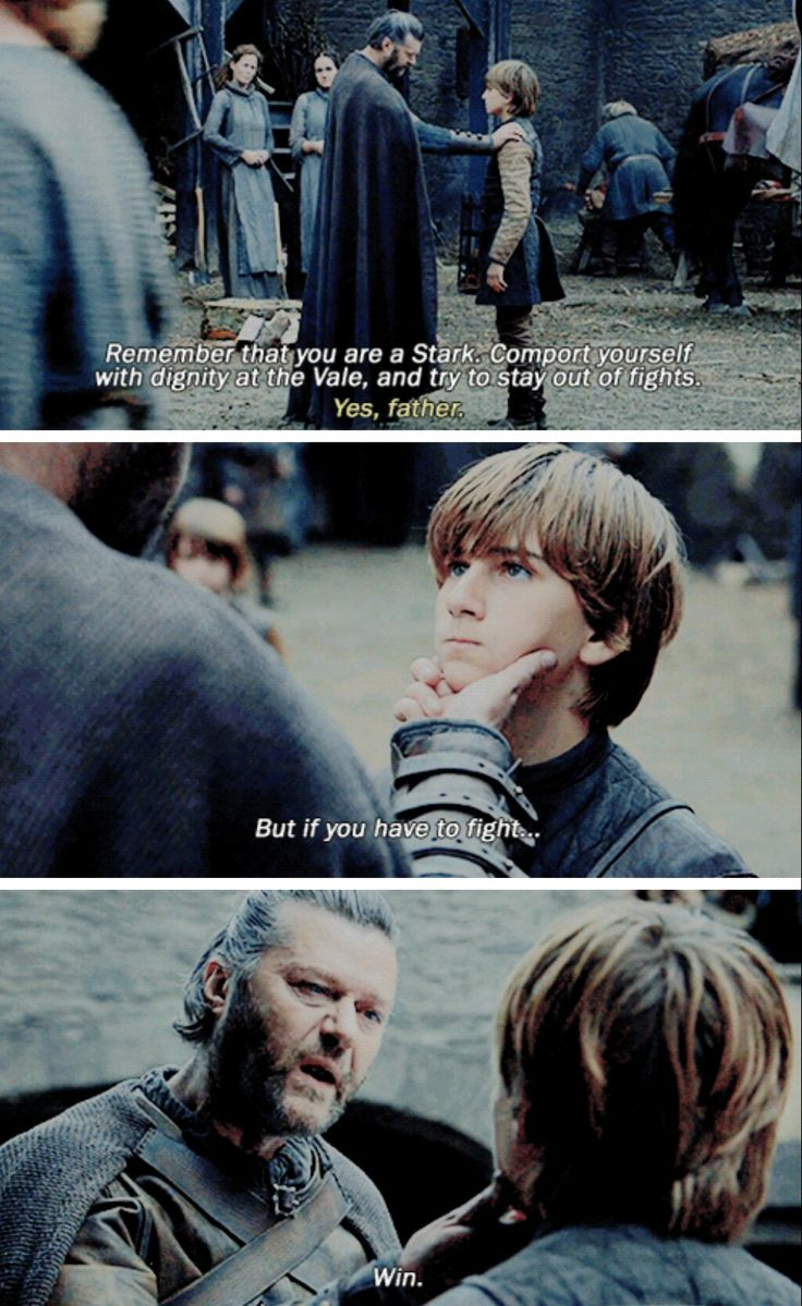 """If you have to fight... win"" - Lord Rickard and Young Ned #GameOfThrones"