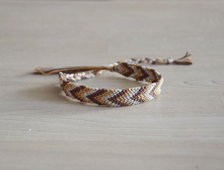 bracelet brésilien, bracelet de l'amitié, homme, motif chevron : Bracelet par planete-b-bijoux