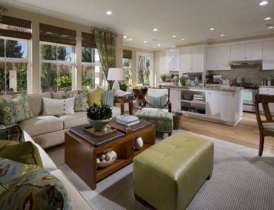 127 best images about builder developer projects on for Kitchen family room combo floor plans