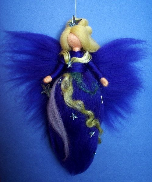 AURORA BOREALIS FAIRY  needle felted Wool Stars Doll Faeries Baby Soft Sculpture Waldorf Inspired. $26.00, via Etsy.