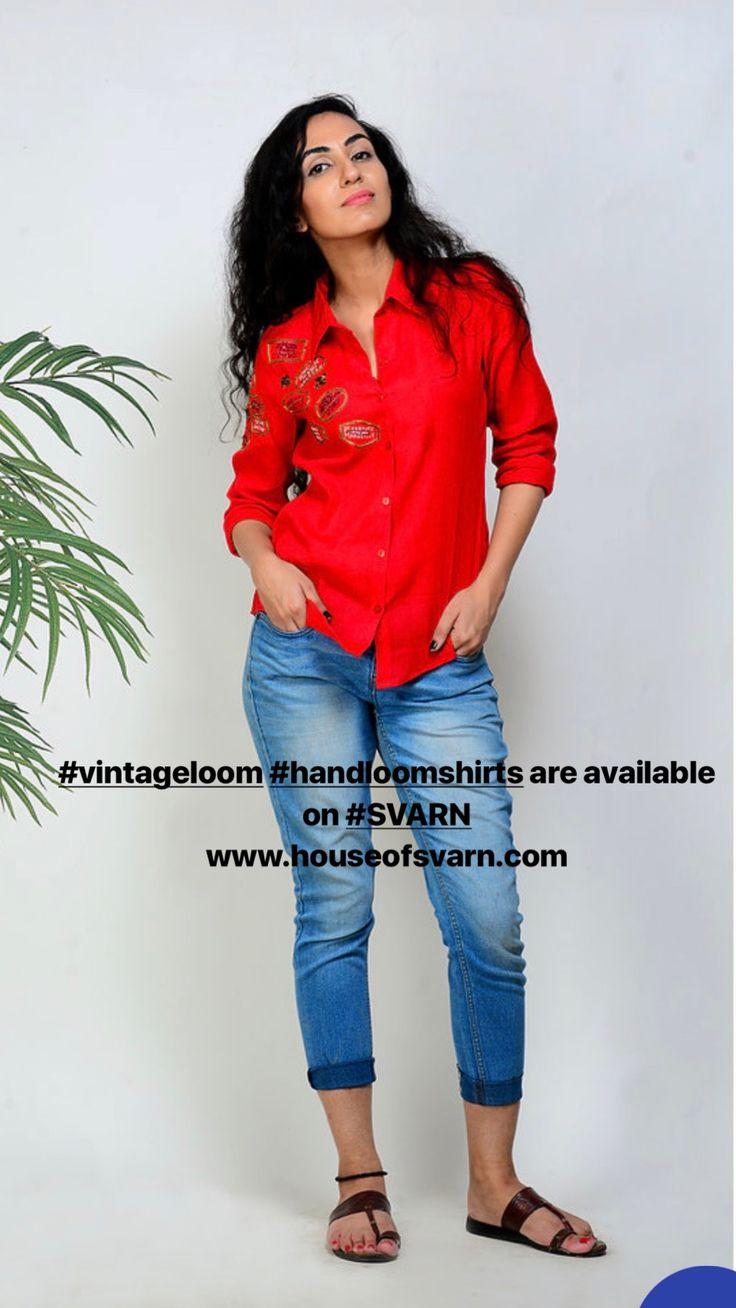 Vintage loom handloom shirts are available on SVARN! Shop now!