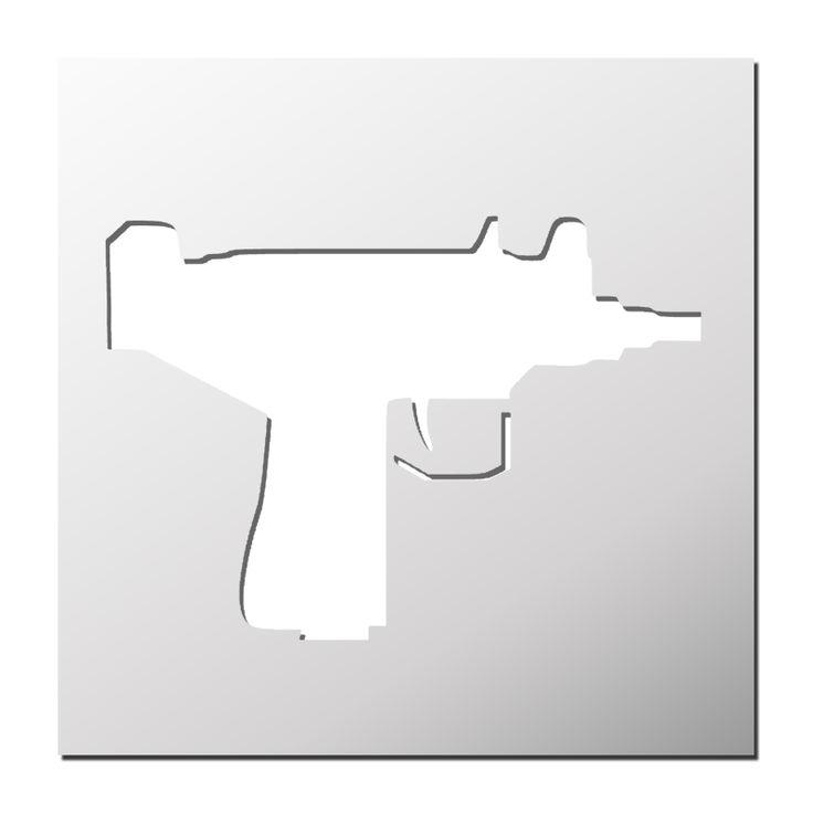 Pochoir Pistolet Mitrailleur