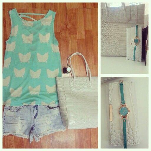 Outfit para estos días de calor con shorts y camiseta de Pepa Loves.  www.facebook.com/carumamoda  Info: carumamoda@hotmail.com