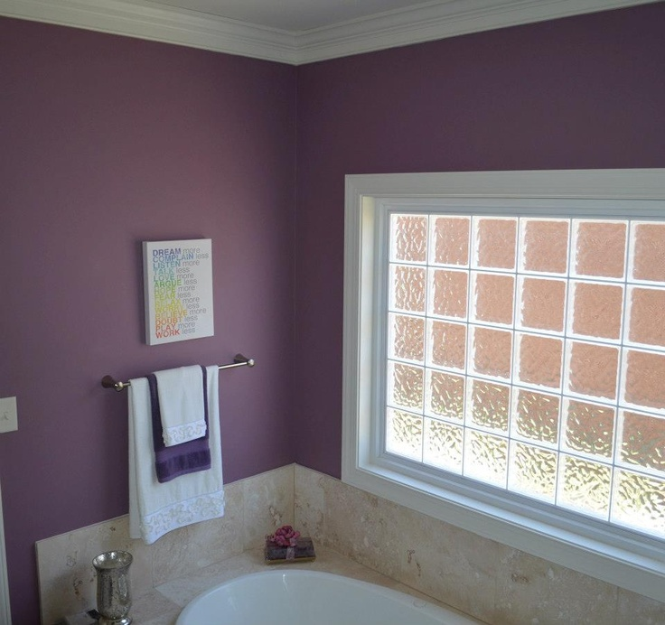 23 Amazing Ideas For Bathroom Color Schemes: Benjamin Moore Aplomb #af-625. Great Deep Color For A Luxurious Bathroom.