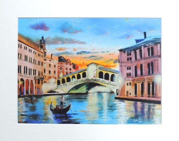 The Venice reflections print mounted artwork Gordon Bruce new UK art  | eBay  ||  Print with an ivory mount. | eBay! http://www.ebay.co.uk/itm/381698985831?_trksid=p3984.m1555.l2649&ssPageName=STRK%3AMESELX%3AIT&utm_campaign=crowdfire&utm_content=crowdfire&utm_medium=social&utm_source=pinterest