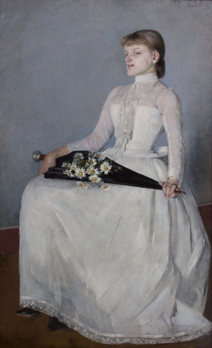 Olga Boznańska: 'Ze spaceru' ('From walking') 1889,oil on canvas, National Museum, Kraków