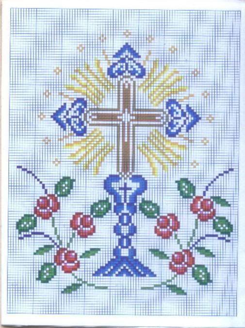 Motivos religiosos a punto de cruz - Imagui
