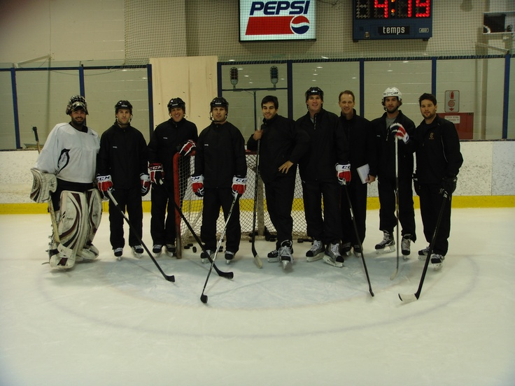 PHPA Player Representatives taking part in a Reebok factory tour and product testing facility.