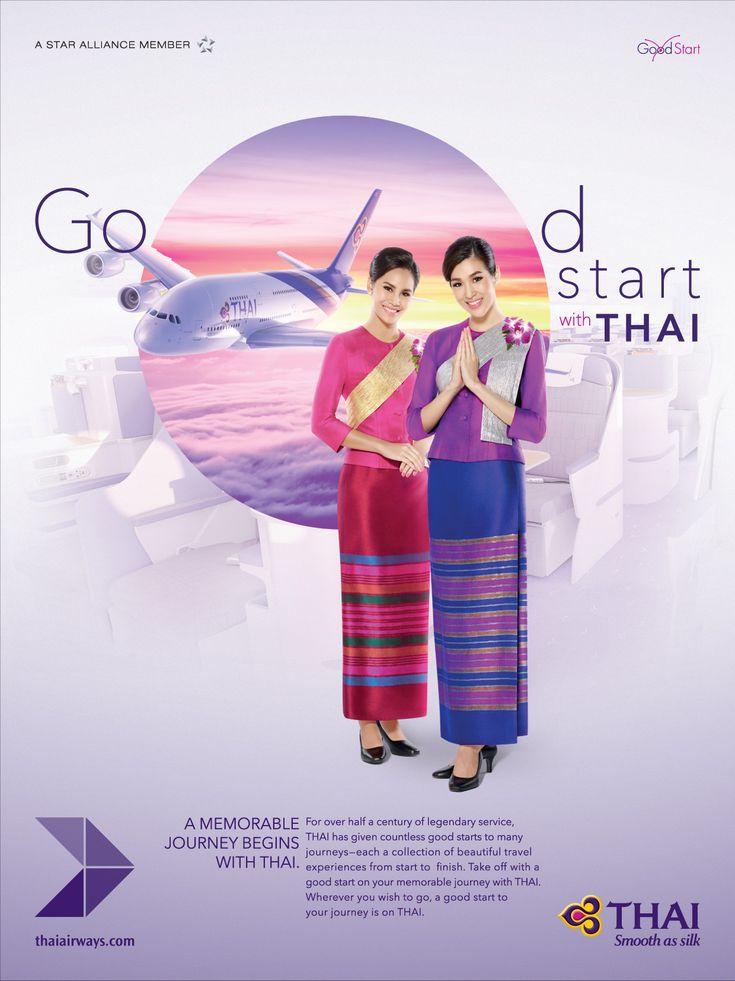 """Check out this @Behance project: """"Good Start (Thai Airways)"""" https://www.behance.net/gallery/33433247/Good-Start-(Thai-Airways)"""