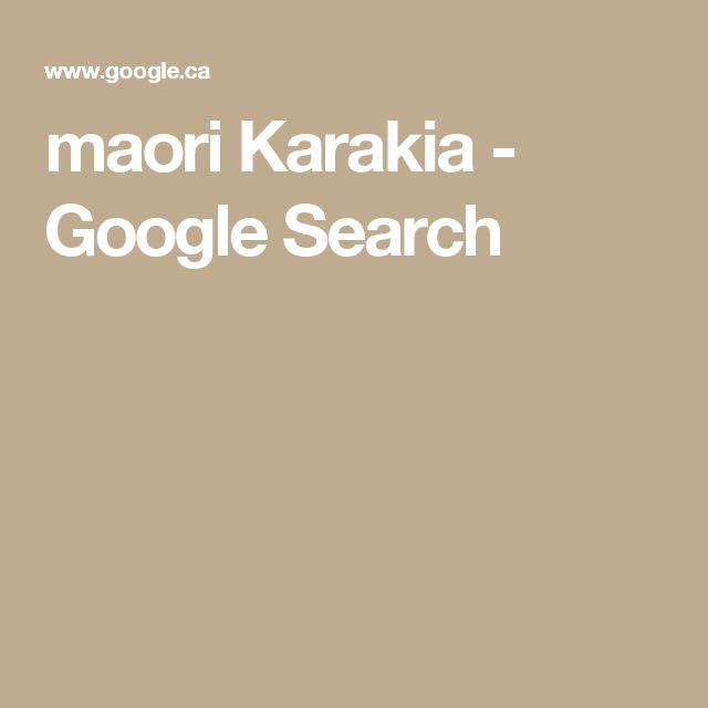maori Karakia - Google Search