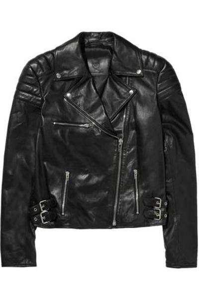 Leather biker jacket #bikerjacket #covetme #mcqalexandermcqueen