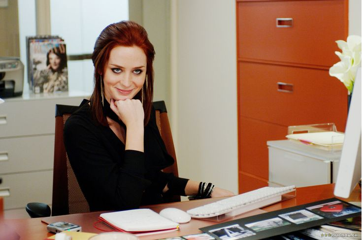 Emily Blunt - the devil wears prada....not gonna lie I really want my hair color like hers!