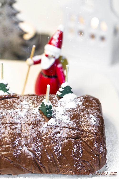 Bûche de Noël: bûche au chocolat, grand-marnier et patate douce